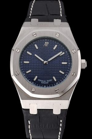 AP Royal Oak Fondation Dark Blue Tapisserie Dial Baton Marker Led Messi Limited Men's Watch