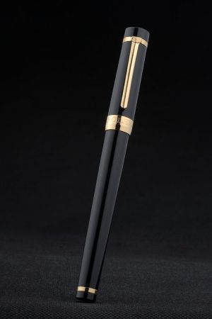 Rolex Luxurious Black Ballpoint Pen Black Medium Ink High Gloss Mesmerizing Celebrity Style PE024